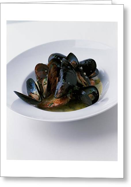 A Dish Of Mussels Greeting Card