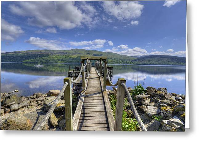 A Dock Out To Loch Tay Greeting Card