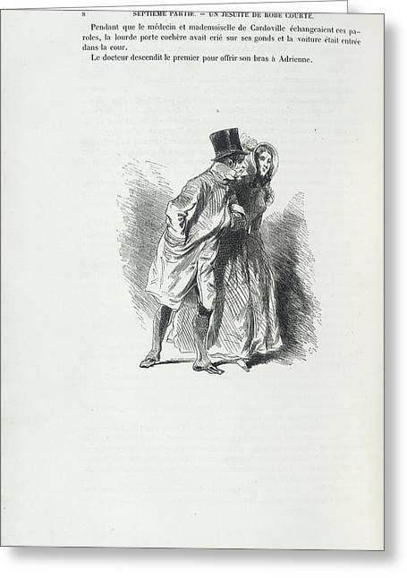 A Doctor And Lady Greeting Card