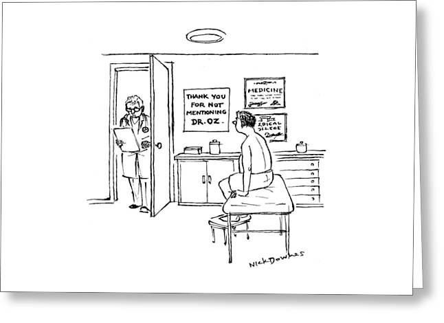 A Doctor Walks Into An Office Where A Patient Greeting Card
