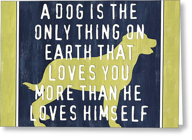 A Dog... Greeting Card by Debbie DeWitt