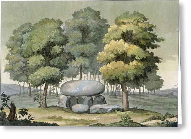 A Dolmen-type Passage Grave Of The Gauls Greeting Card by G. Bramati