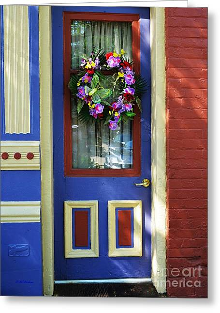 A Door Of Many Colors Greeting Card