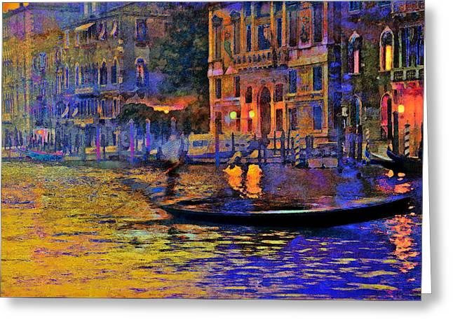 A Dream Of Venice Greeting Card by Steven Boone
