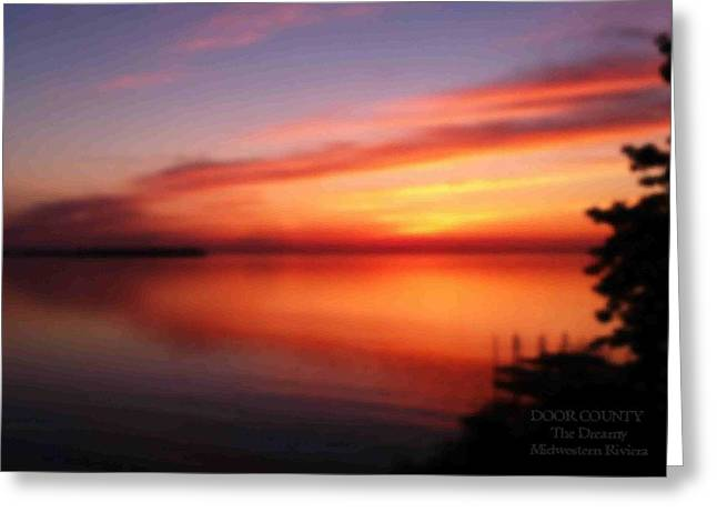 A Dreamy Sunset On The Midwestern Riviera Greeting Card