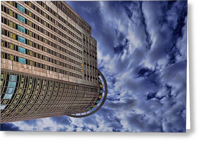 A Drifting Skyscraper Greeting Card