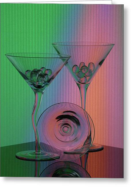 A Dry Martini Greeting Card by Mike Martin