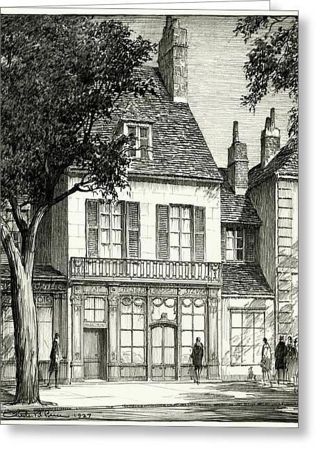 A Facade Of A Store Greeting Card by Chester B. Price