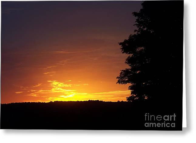 A Fading Sunset Greeting Card by Steven Valkenberg