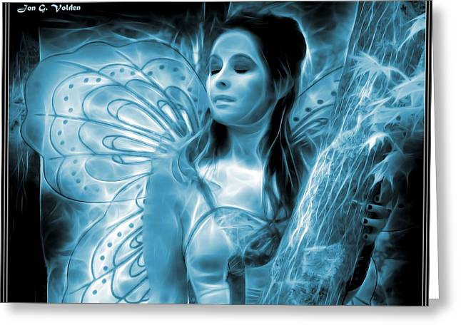 A Fairy Moment Greeting Card by Jon Volden