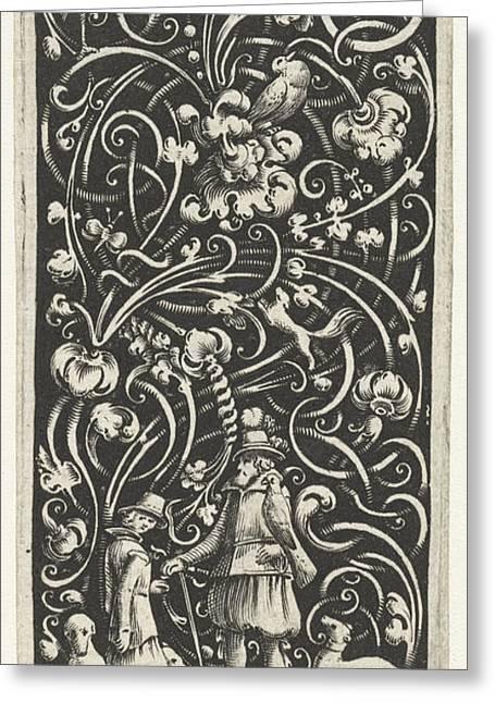 A Falconer Surrounded By Dogs, Bartholomeus Van Lochom Greeting Card by Bartholomeus Van Lochom And Hans Janssen And Frederik De Wit
