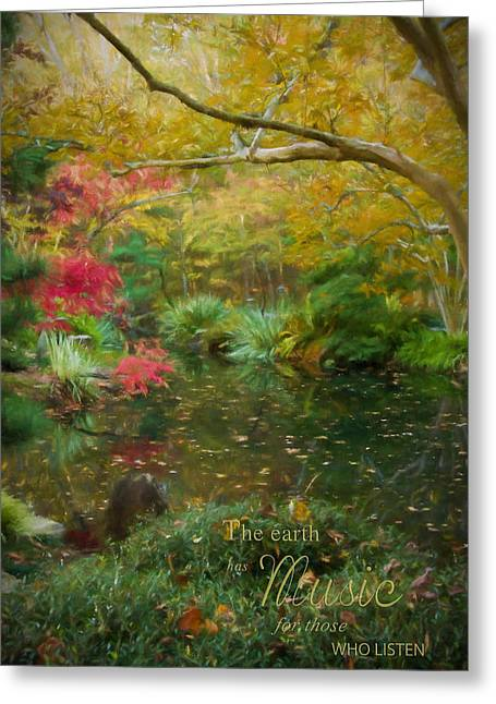 A Fall Afternoon With Message Greeting Card