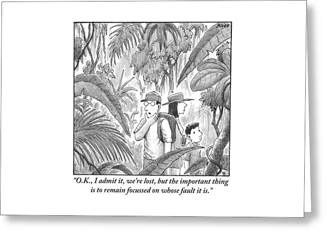 A Family Is Lost In The Depths Of A Jungle Greeting Card
