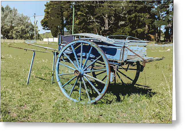 A Farm Relic From The Past Greeting Card by Gary Cowling