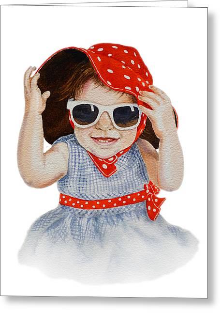 A Fashion Girl  Greeting Card by Irina Sztukowski