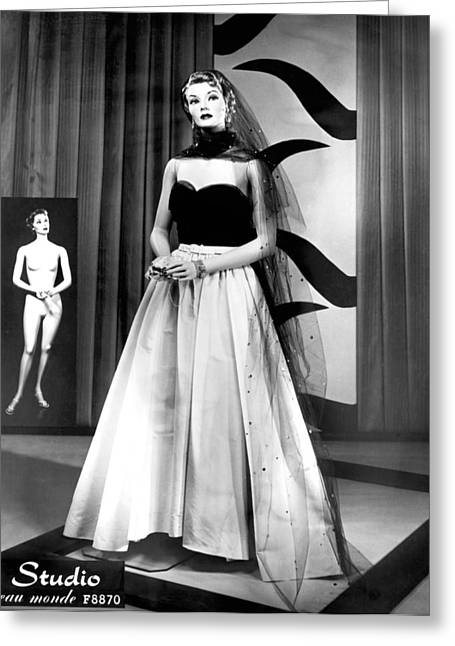 A Fashionable Mannequin Greeting Card by Underwood Archives