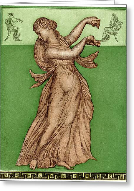 A Female Dancer Performs  Alone Greeting Card by Mary Evans Picture Library