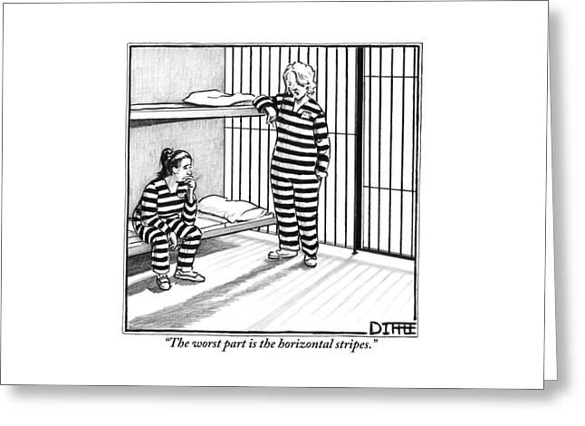 A Female Prisoner Greeting Card