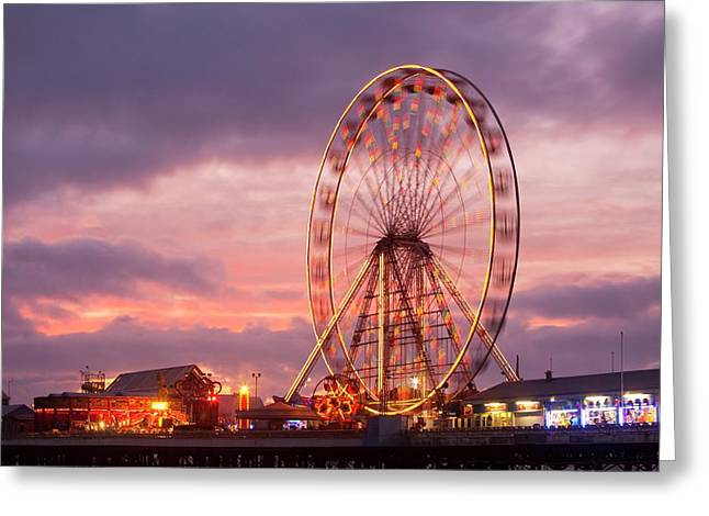 A Ferris Wheel On The South Pier Greeting Card