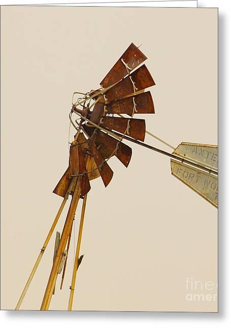 A Fierce Prairie Wind Greeting Card