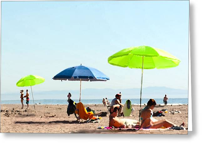 A Fine Day At The Beach Greeting Card by Artist and Photographer Laura Wrede