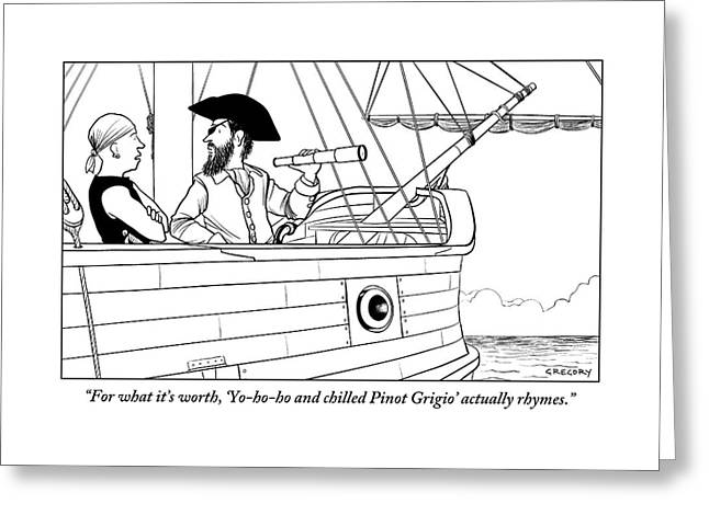 A First Mate Addresses His Pirate Captain Greeting Card