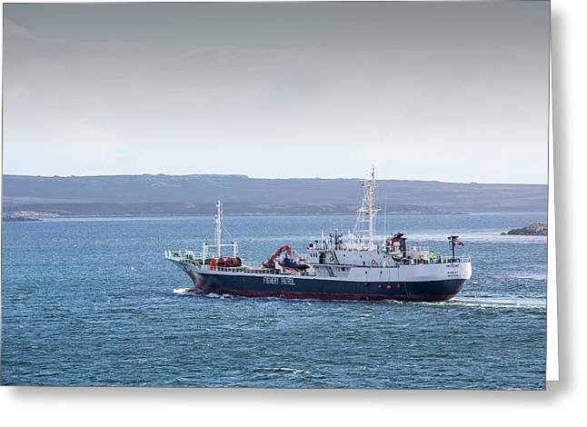 A Fisheries Patrol Vessel Greeting Card