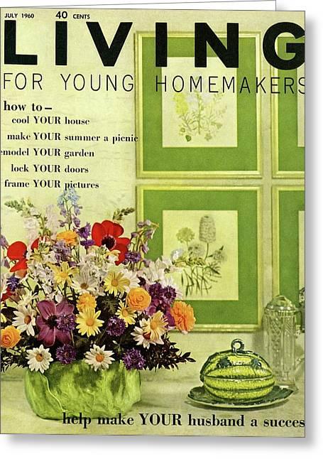 A Floral Arrangement Greeting Card by John Bendixsen