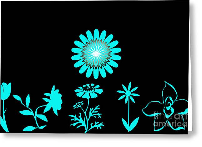A Flower A Day Except Sunday Greeting Card by Tina M Wenger