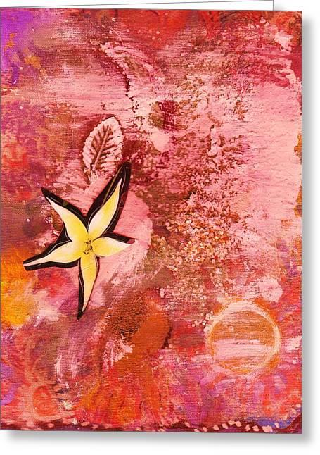 A Flying Star Flower Greeting Card by Anne-Elizabeth Whiteway