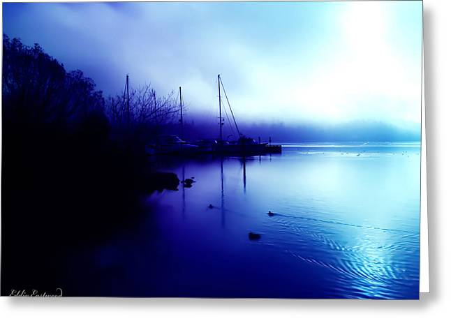A Foggy Day At Log Boom Park In Kenmore Washington Greeting Card