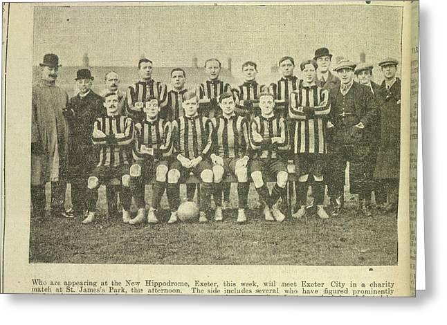 A Football Team Greeting Card