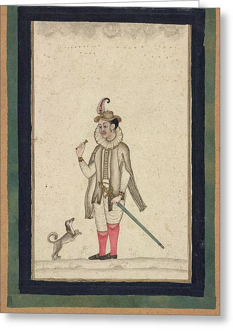 A Foppish European Youth Greeting Card by British Library