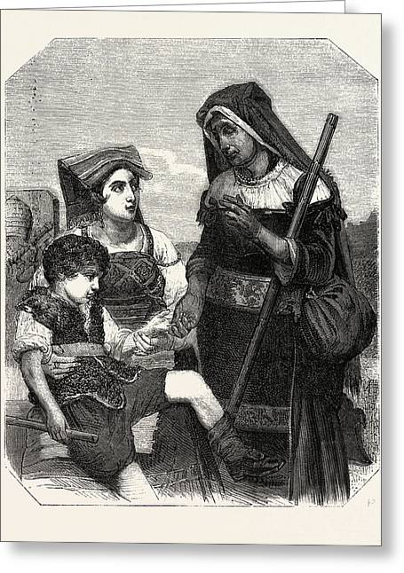 A Fortune Teller Greeting Card by Litz Collection
