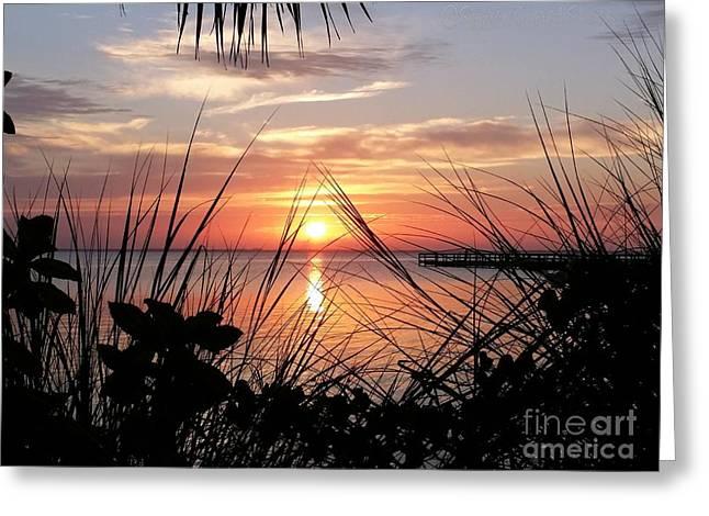 A Framed Sunrise  Greeting Card by Space Coast Skies