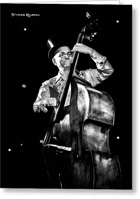 Greeting Card featuring the photograph A French Contrabass Player by Stwayne Keubrick