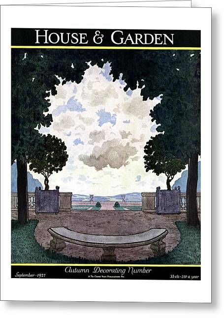 A French Formal Garden Greeting Card