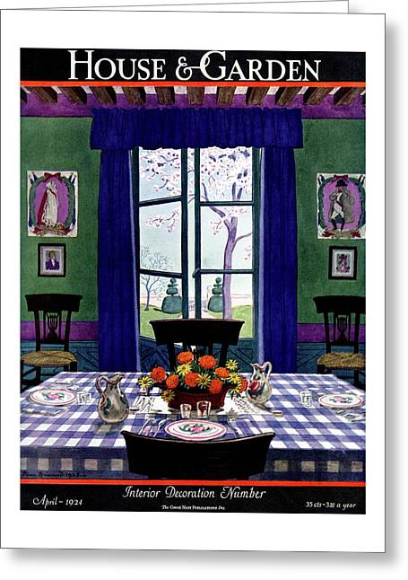 A French Provincial Dining Room Greeting Card