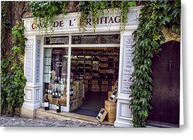 A French Wine Store Greeting Card