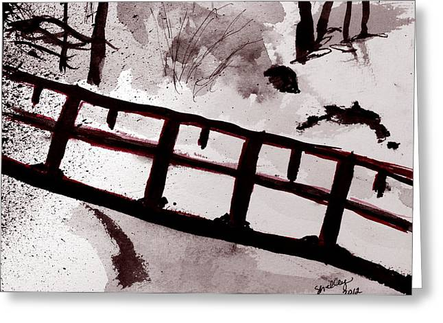 A Frozen River Greeting Card by Shelley Bain