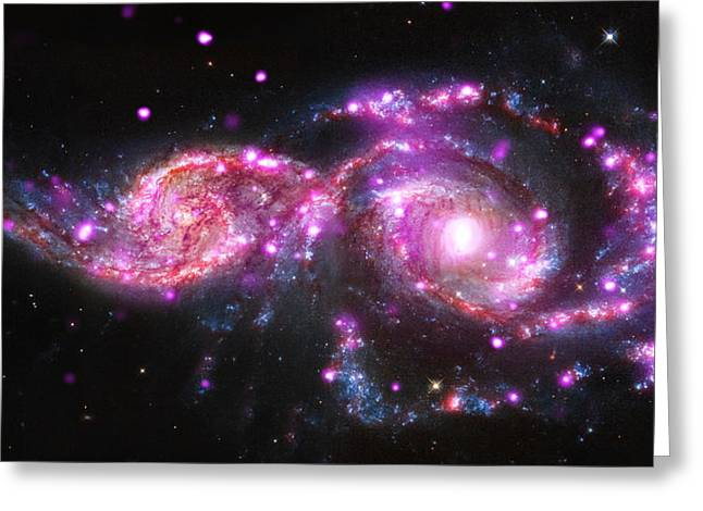 A Galactic Get-together Greeting Card by Nasa