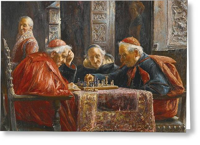 A Game Of Chess Greeting Card by Celestial Images