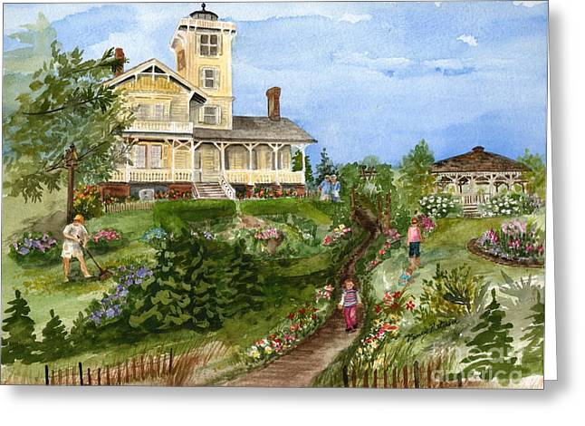 A Garden For All Ages Greeting Card by Nancy Patterson