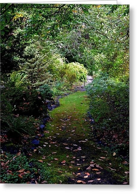 A Garden Path Greeting Card