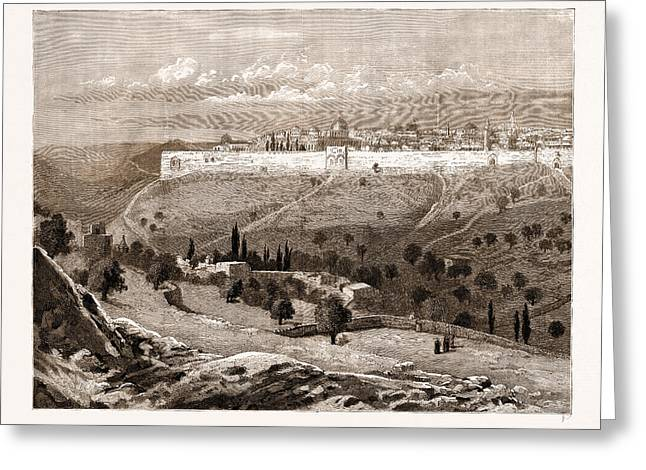 A General View Of The City Of Jerusalem Greeting Card by Litz Collection