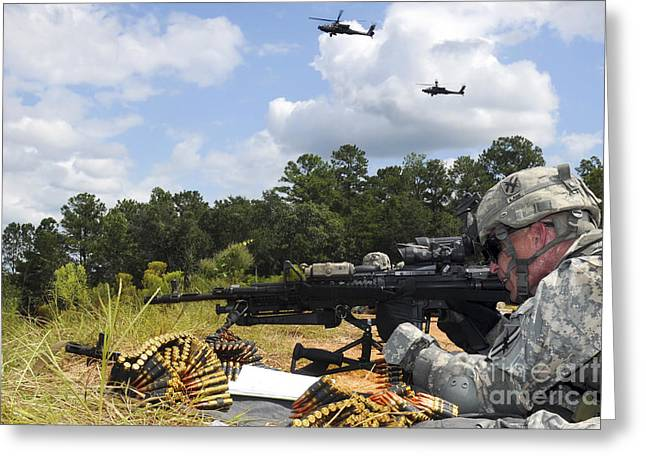A Georgia Army National Guardsman Fires Greeting Card by Stocktrek Images