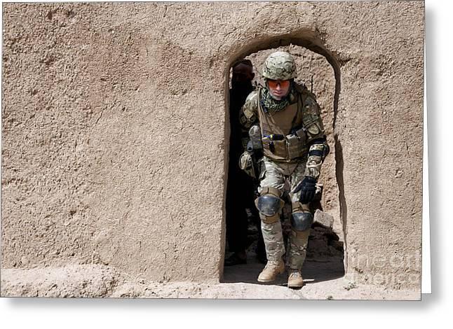 A Georgian Army Soldier Exits Greeting Card