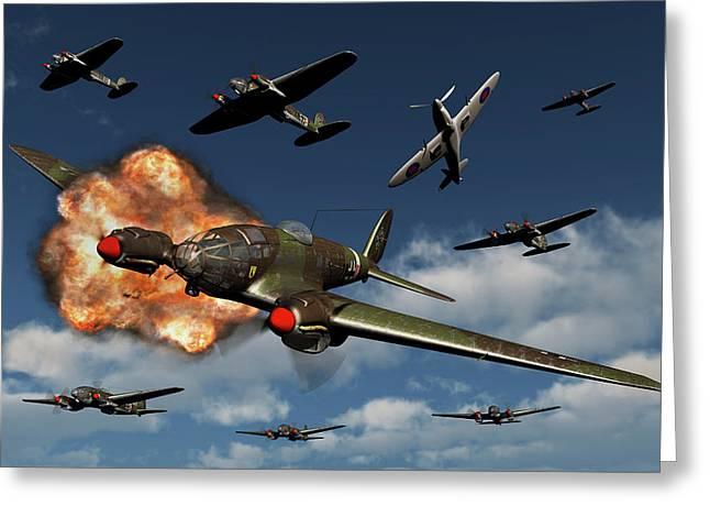 A German Heinkel He 111 Bomber Greeting Card