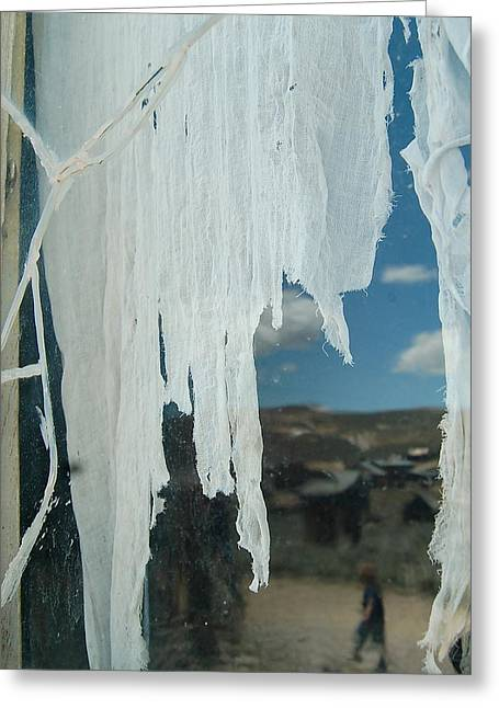 Greeting Card featuring the photograph A Ghostly View by Tamyra Crossley