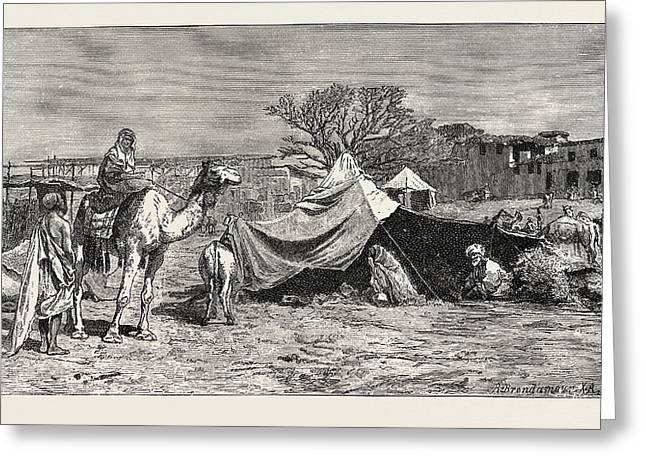 A Gipsy Tent. Egypt Greeting Card by Litz Collection